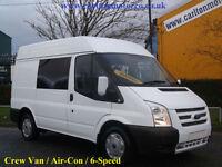 2013/ 13 Ford Transit 125 T300s 4s Crew Window Van Fwd 2.2Tdci Euro-5