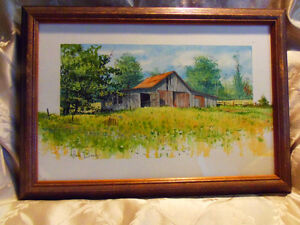 """Pair Framed Bright Prints """"Brown County Ind"""" by Luke Buck. NICE!"""