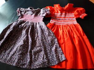 Adorable Vintage Hand Smocked Children's Dresses