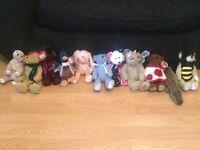 11 TY Beanie Babies teddies/classic bears