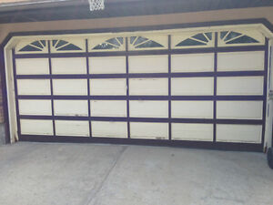 400 used double wood garage door 16x7 in good shape for 16x7 garage door prices