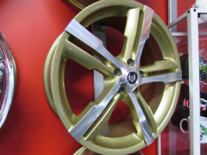 20 INCH NEW GOLD RIMS -5X114.3 BLOWOUT SALE- CHEAP & NEW
