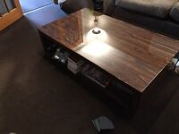 Beautiful dark wood coffee table