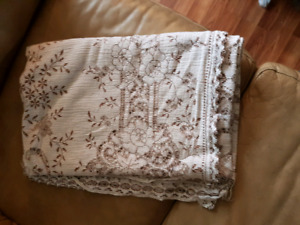 Old lace table cloths