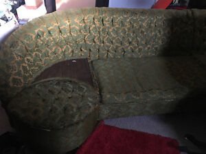 Vintage 1960's 3-Piece L-Shape Couch