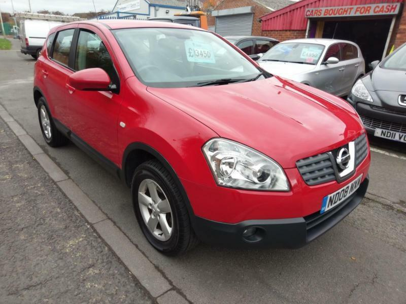 NISSAN QASHQAI 1 6 ACENTA IN BRIGHT RED 2 OWNERS ALLOYS CRUISE PARKING AID  2008 | in Darlington, County Durham | Gumtree