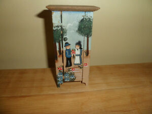 Mini Doll house Wood Cabinet