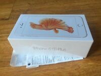 brand new sealed in the box never opened rose gold 64GB iphone 6s plus simfree