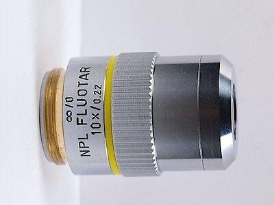 Leitz Npl Fluotar 10x .22 Infinity Microscope Objective