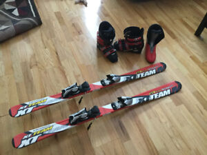 Kids skis, Techno Pro and Nordica boots size 6, 6.5