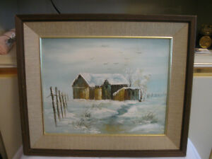 VINTAGE ORIGINAL OIL PAINTING by NEWFOUNDLAND ARTIST...HODDINOTT