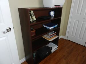 Moving out sale – Book case 12'' x 36'' x 48'' – dark burgundy