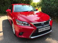 2014 14 Lexus CT 200h 1.8 ( 136bhp ) CVT 2014MY Advance SAT NAV DAB FLSH