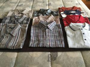 Lot de chemises et de polos