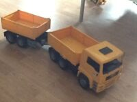 Bruder MAN tipper truck and pup