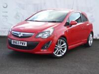 2013 VAUXHALL CORSA 1.4 SRI 3 DOOR LOW MILEAGE RED AND BLACK SPORTS SEATS REAR P