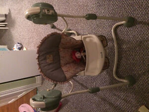 Swing, Vibrating Chair and High Chair