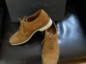 Mike Konos Tan Suede Leather Shoes Brand New never worn