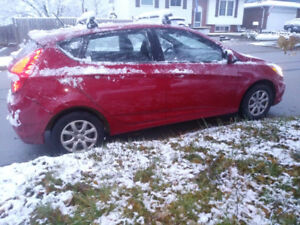 Hyundai Accent 2012 - high mileage with E-Test and Safety