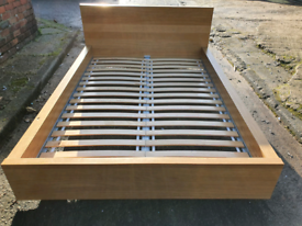 IKEA 4' 6' DOUBLE WOODEN BED FRAME GOOD CONDITION FREE LOCAL DELIVERY