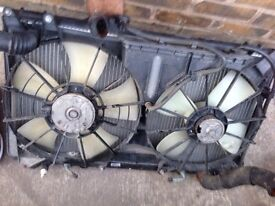 Lexus is200 radiator rad pack complete + fans 98-05 breaking spares is 200 can post courier