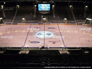 Sun Jan 20th 2 Tickets Maple Leafs vs Coyotes CENTRE ICE Greens