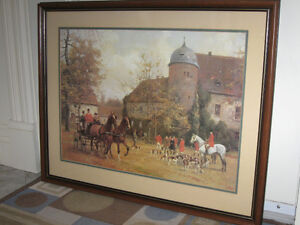 ...A Beautiful OLD ENGLISH HUNT SCENE...[From the '70's]