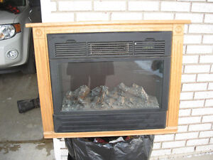 HEATSURGE  ELECTRIC  FIREPLACE with remote  AMISH BUILT