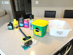 Some Gardening Fertilizer &Auto or Small Engine Supplies $22/all