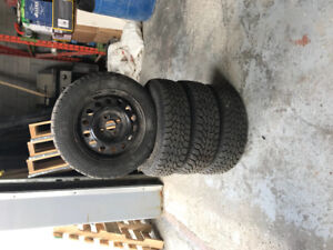 Four Used Good Year Winter Tires 175 / 65R14