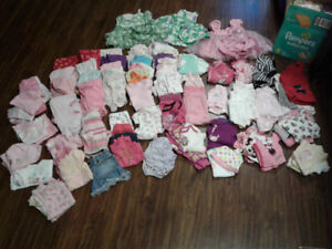 0 to 3 months baby girl cloths