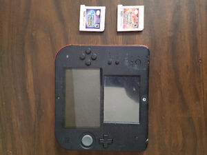 Red 2DS and pokemon moon and pokemon Ruby