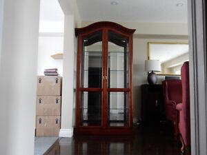 Solid Mahogany Display Cabinet
