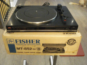 Fisher Record Player, Vintage Turntable As New- Made in Japan