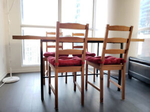 Teak Dining Table + 4 Chairs