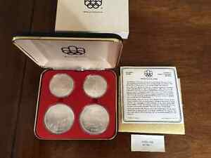 1976- Olympic coins / Monnaie Olympique - argent sterling silver