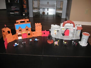 2 Petits jeux avec figurines (Cow-boys et medieval)