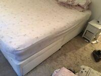 *NEXT WHITE DIVAN DOUBLE BED*