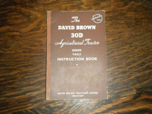 David Brown 30D Tractor Instruction Book