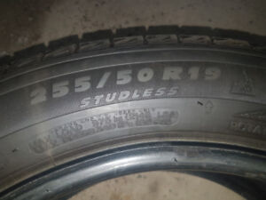 Four 255/50R19 Michelin Latitude X-ICE snow tires - SALE PENDING