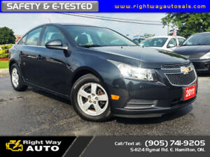 2011 Chevrolet Cruze LT |LOW KMS | NEW TIRES | SAFETY & E-TESTED