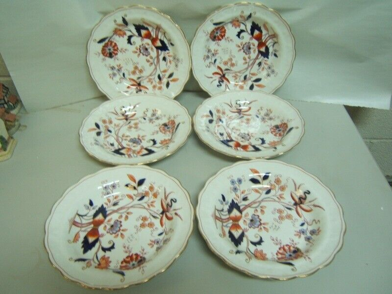 """Booths """"Fresian"""" Soup Bowls Lot of 6 Very Good Condition"""