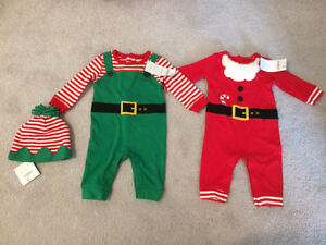 0-3m nwt Gymboree holiday one pieces and 3-6m holiday hat London Ontario image 1