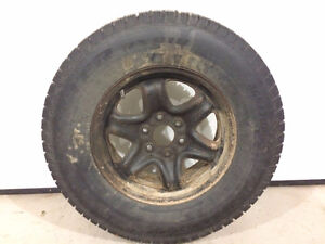 265/70R17 Studded Tires on rims