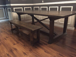 Rustic country style family table