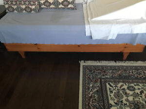 SOLID OAK Wood Storage bed! ONLY $200.00!!!