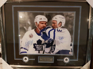 Wendel Clark and Doug Gilmour Autographed 16X20 Framed Picture
