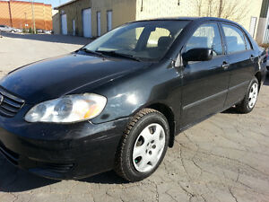 2003 TOYOTA COROLLA CE 201 KMS CLEAN TITLE 1 OWNER CARPROOF 5 SP