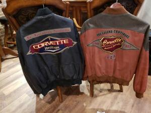 """Blousons de cuir véritable original pour  Amateur de """"Corvette""""."""