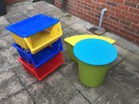 Children's seat & table storage